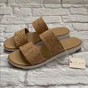 Mila Paoli Women's cork tan sandals made in Italy